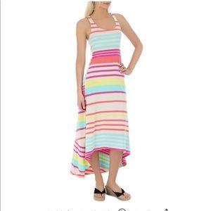 NWT! Roxy multi color stripe comfy maxi dress